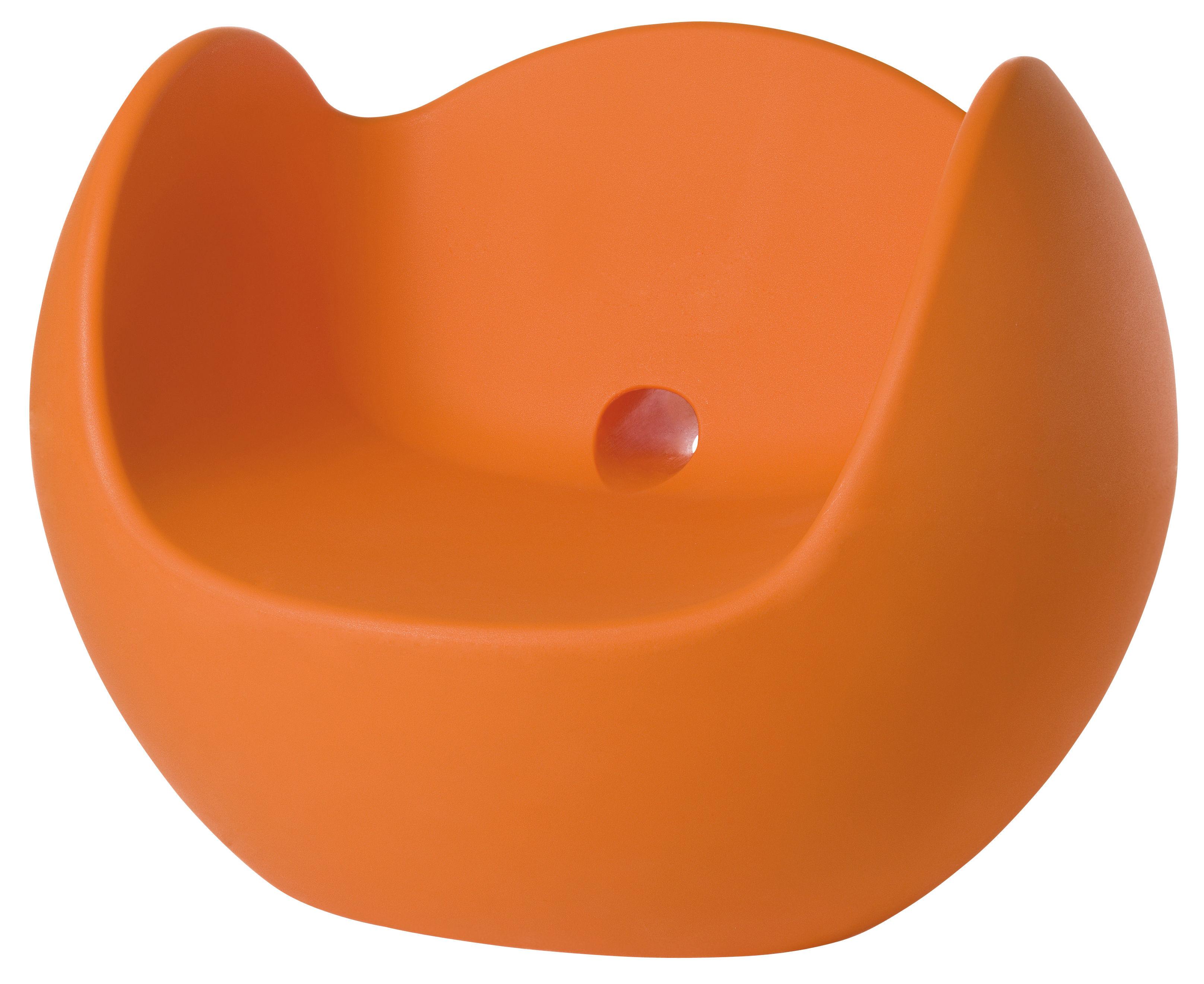 Möbel - Möbel für Teens - Blos Schaukelstuhl - Slide - Orange - polyéthène recyclable