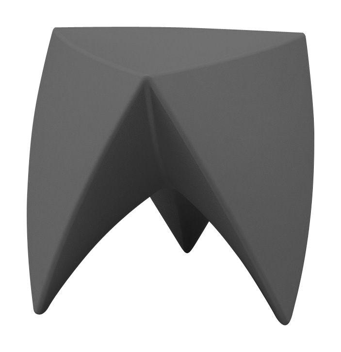 Arredamento - Tavolini  - Sgabello Mr. LEM di MyYour - Antracite - Polietilene rotostampato