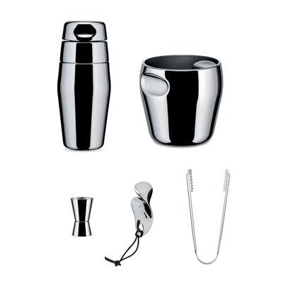 Tableware - Wine Accessories - North Tide Shaker set - / 5-piece set by Alessi - Steel - Stainless steel