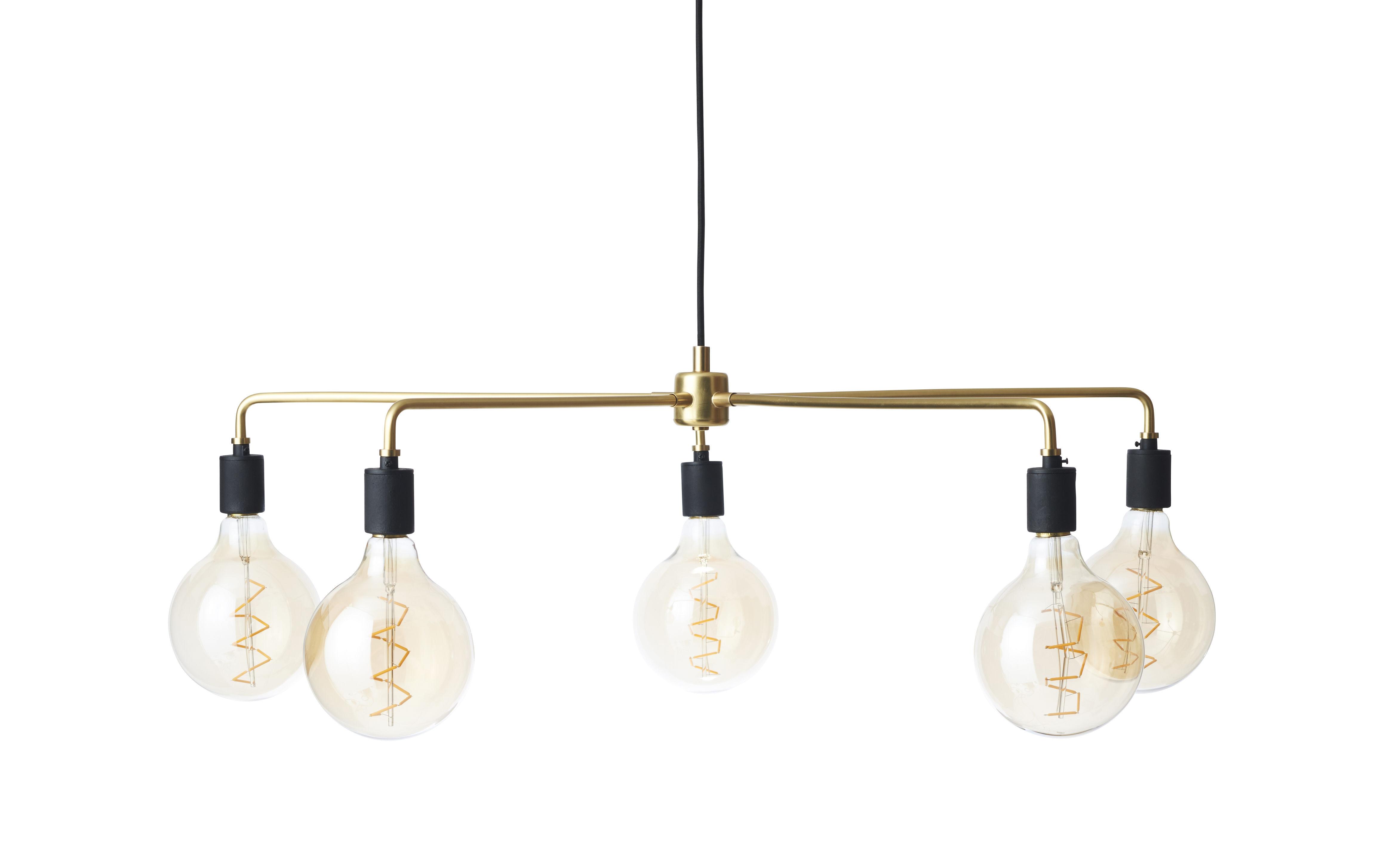 Illuminazione - Lampadari - Sospensione Chambers candelabro / Ø 76 cm - Menu - Ottone - Laiton massif, Porcellana