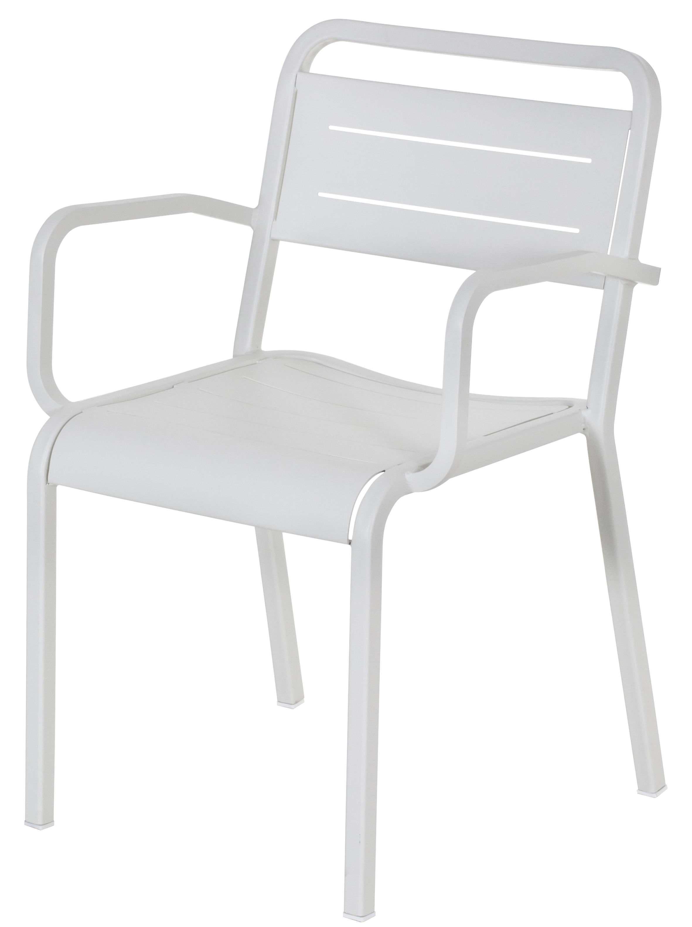Furniture - Chairs - Urban Stackable armchair - Metal by Emu - White - Varnished aluminium