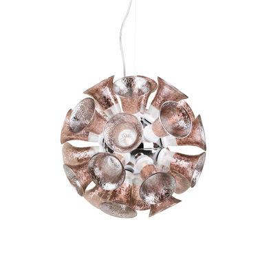 Suspension Chalice 24 / Calices en verre - Ø 48 cm - Moooi cuivre,transparent,gris chromé en métal