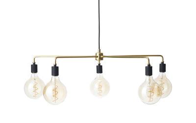 Luminaire - Suspensions - Suspension Chambers chandelier / Ø 76 cm - Menu - Laiton - Laiton massif, Porcelaine