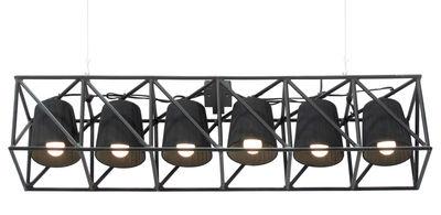 Luminaire - Suspensions - Suspension Multilamp / L 103 cm - Seletti - Noir - Métal, Tissu