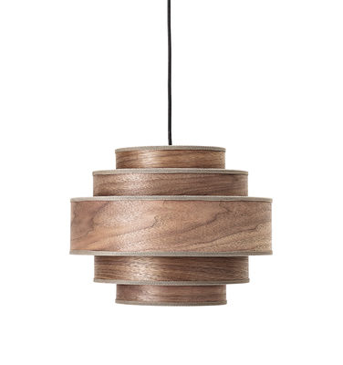 Luminaire - Suspensions - Suspension / Noyer - Ø 35 x H 28 cm - Bloomingville - Noyer foncé - Noyer