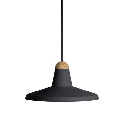 Suspension Tao / Ø 30 cm - Métal & liège - EASY LIGHT by Carpyen anthracite,liège en métal