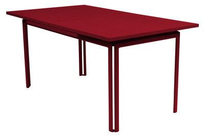 Jardin - Tables de jardin - Table à rallonge Costa / L 160 à 240 cm - 6 à 10 personnes - Fermob - Piment - Aluminium laqué