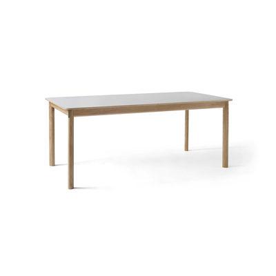 Table à rallonge Patch HW1 / Stratifié Fenix - L 180 à 280 cm - &tradition beige,chêne blanchi en matière plastique