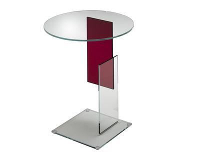 Table basse Don Gerrit - Glas Italia rouge,transparent en verre