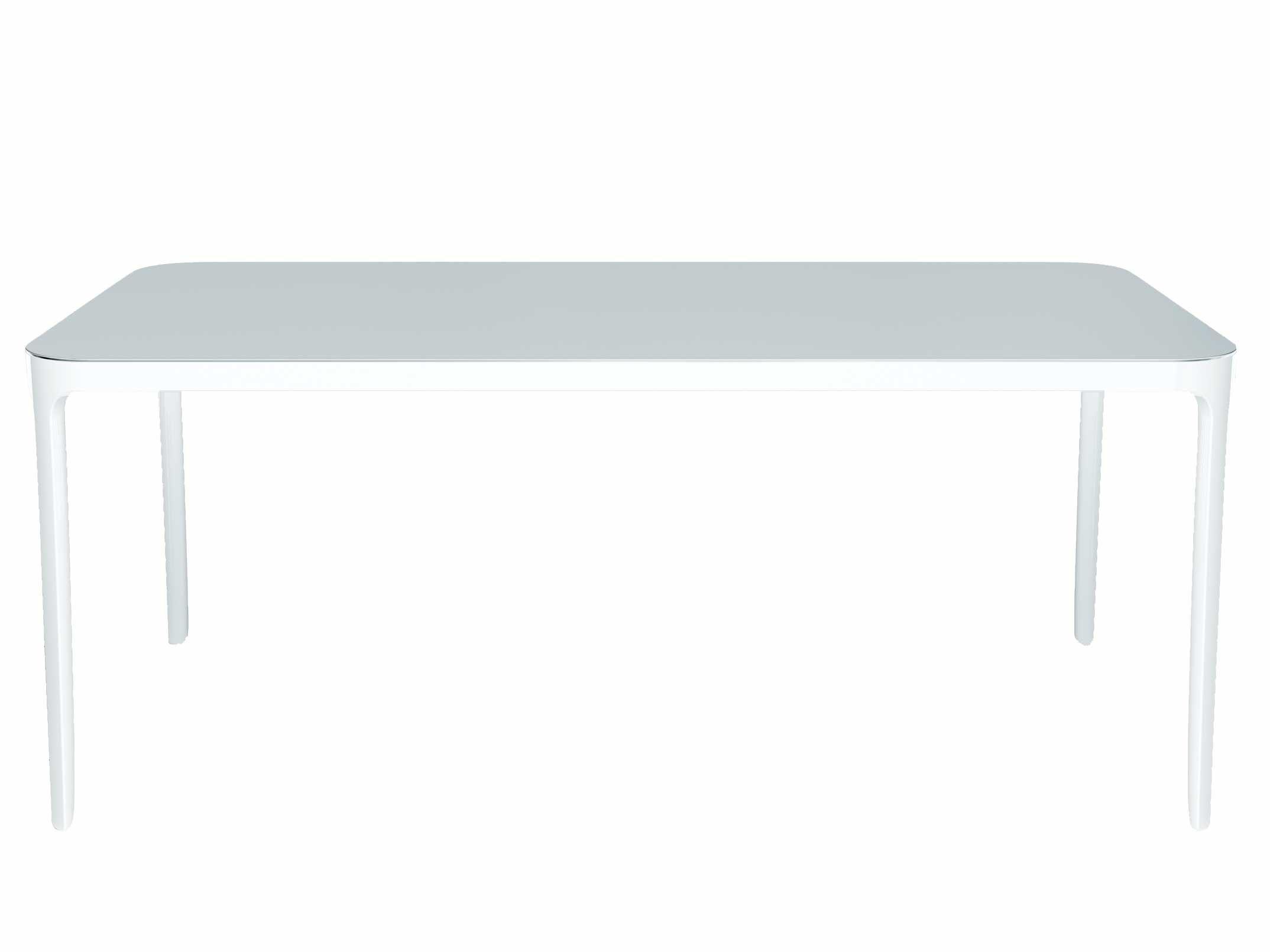 Rentrée 2011 UK - Bureau design - Table rectangulaire Vanity / 140 x 80 cm - Magis - Blanc  - 140 x 80 cm - Aluminium verni, Verre verni