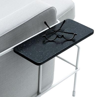 Mobilier - Tables basses - Tablette / Accoudoir pour assises Traffic - Magis - Gris anthracite / Structure noire - Pierre acrylique