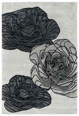 Dekoration - Teppiche - Adam Teppich von Christophe Pillet / 180 x 270 cm - handgeknüpft - Toulemonde Bochart - Silberfarben - Pflanzliche Seide