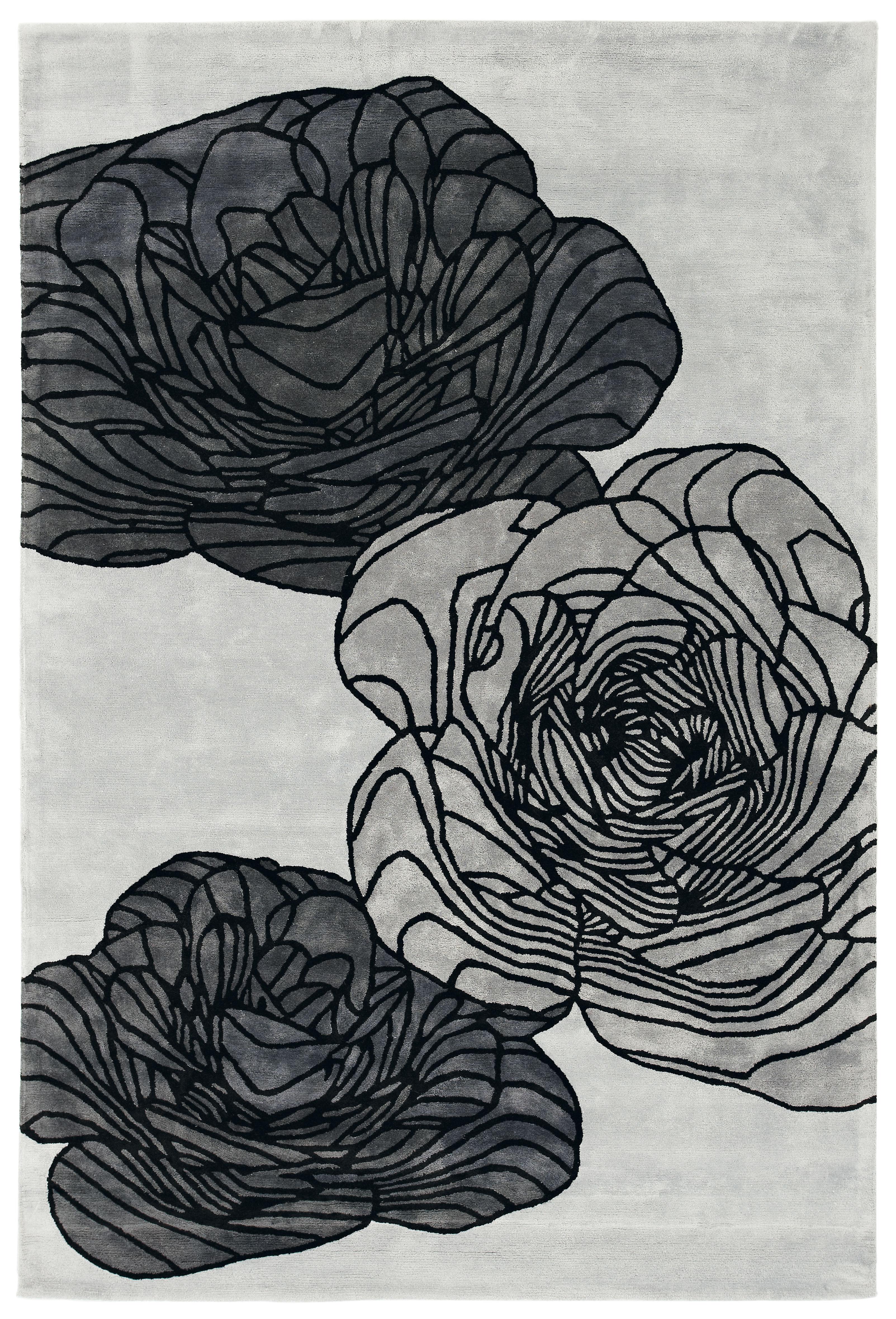 Dekoration - Teppiche - Adam Teppich von Christophe Pillet / 180 x 270 cm - handgeknüpft - Toulemonde Bochart - Silberfarben - Soie végétale