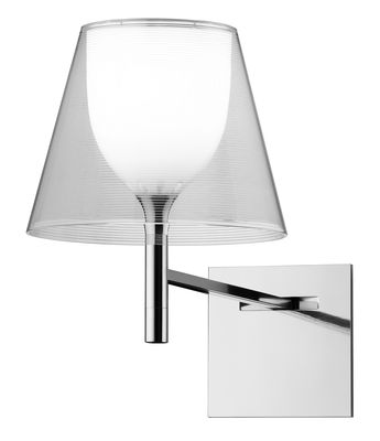 Lighting - Wall Lights - K Tribe W Wall light by Flos - Transparent - PMMA, Polished aluminium