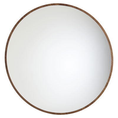 Decoration - Mirrors - Bulle Wall mirror - Large - Ø 120 cm by Maison Sarah Lavoine - Oiled walnut - Glass, Oiled walnut