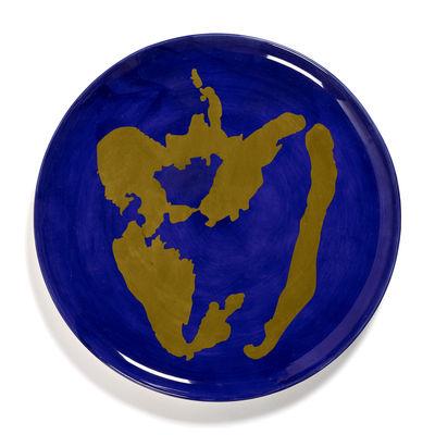 Arts de la table - Assiettes - Assiette de présentation Feast / Ø 35 x H 2 cm - Serax - Poivron / Lapis lazuli & or - Grès émaillé