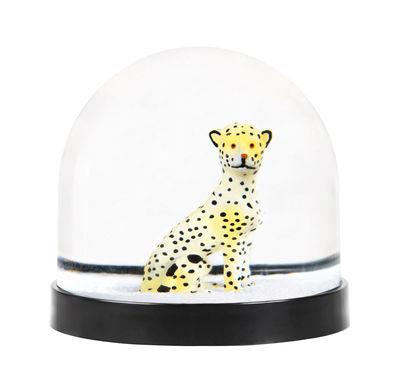 Boule à neige / Léopard - & klevering jaune en matière plastique