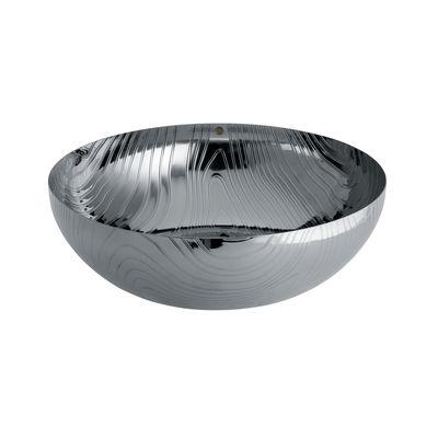 Tableware - Fruit Bowls & Centrepieces - Veneer Bowl - / Ø 29 cm - Steel with embossed patterns by Alessi - Polished steel - Stainless steel