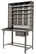 Bureau Casier de Tri Meuble de rangement Tolix acier brut en métal