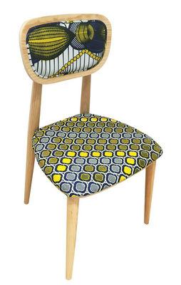 Mobilier - Chaises, fauteuils de salle à manger - Chaise rembourrée Wax going on / n°9 - Biza - Sandrine Alouf Atmospheriste - Biza - Mousse, Pin multiplis, Tissu