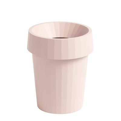 Accessoires - Accessoires bureau - Corbeille à papier Shade / Ø 30 x H 37 cm - Hay - Rose pâle - Polypropylène recyclable