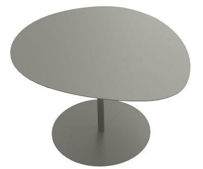 Möbel - Couchtische - Galet n°3 Couchtisch / 57 x 64 cm - H 38,6 cm - Matière Grise - Taupe - Stahl