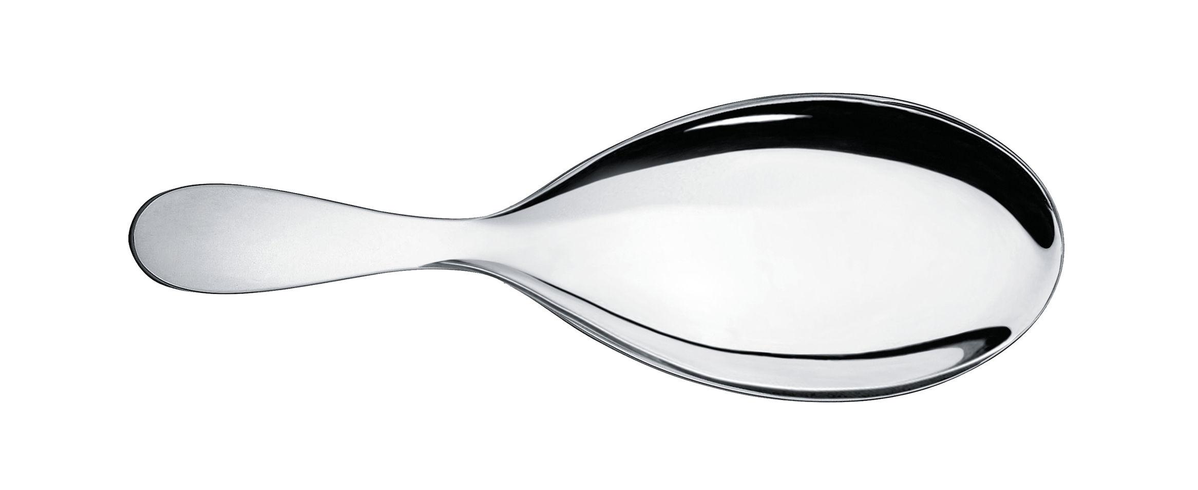 Tavola - Posate da portata - Cucchiaio da portata Eat.it - / Per risotto di Alessi - Metallo brillante - Acciaio inox 18/10