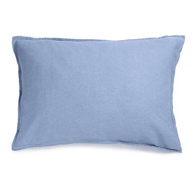 Interni - Tessili - federa  50 x 70 cm - / 50 x 70 cm - Lino lavato di Au Printemps Paris - Blu cielo - Lin lavé