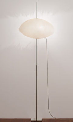 Lighting - Floor lamps - PostKrisi 003 Floor lamp - H 190 cm by Catellani & Smith - White - Fibreglass, Nickel-plate metal, Stainless steel