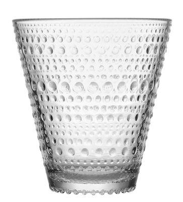 Tischkultur - Gläser - Kastehelmi Glas / Set aus 2 Gläsern - 30 cl - Iittala - Transparent - Pressglas