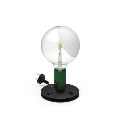 Image of Lampada da tavolo Lampadina - / Achille Castiglioni, 1975 di Flos - Verde - Metallo
