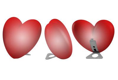 Lampe d'ambiance Love lumineux Version à poser - Slide rouge en matière plastique
