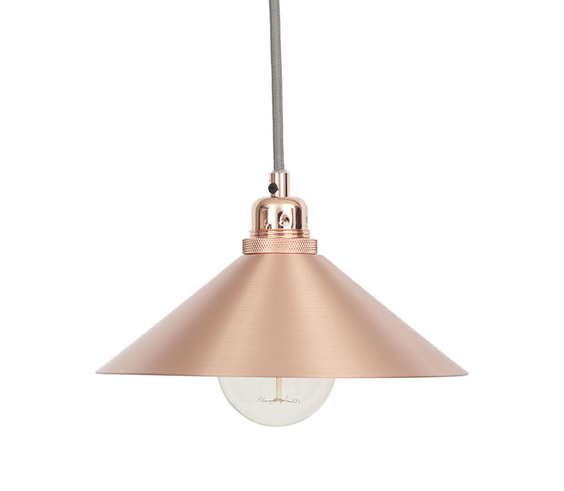 Lighting - Pendant Lighting - Cone Small Lampshade - Ø 25 x H 8 cm by Frama  - Small - Copper - Copper