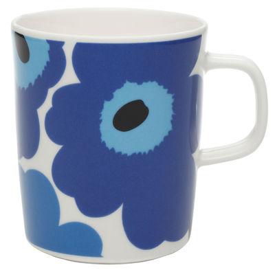 Mug Unikko / 25 cl - Marimekko blanc/bleu en céramique