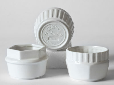 Tableware - Coffee Mugs & Tea Cups - Machine Collection Small dish - / Set of 3 by Diesel living with Seletti - White - China