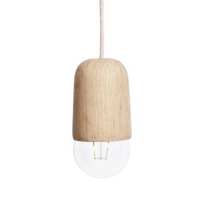 Illuminazione - Lampadari - Sospensione Luce Medium - / Rovere - Ø 10 x H 18 cm di Hartô - Medium / Rovere - Rovere massello