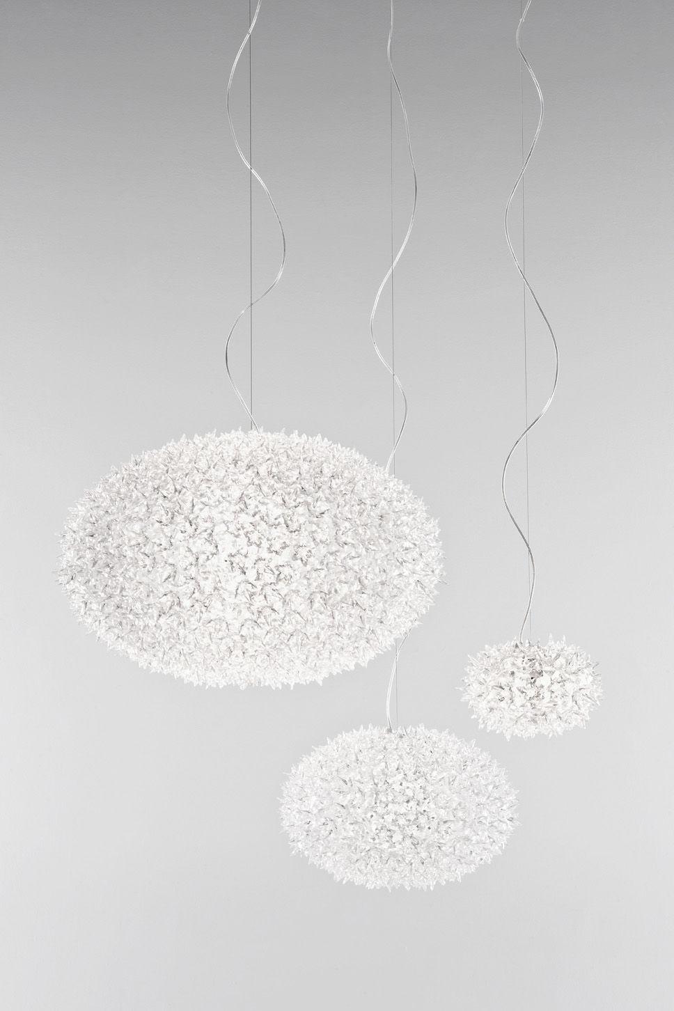 suspension big bloom 80 cm cristal transparent kartell. Black Bedroom Furniture Sets. Home Design Ideas