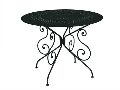 Outdoor - Garden Tables - 1900 Table - Ø 96 cm by Fermob - Liquorice - Steel