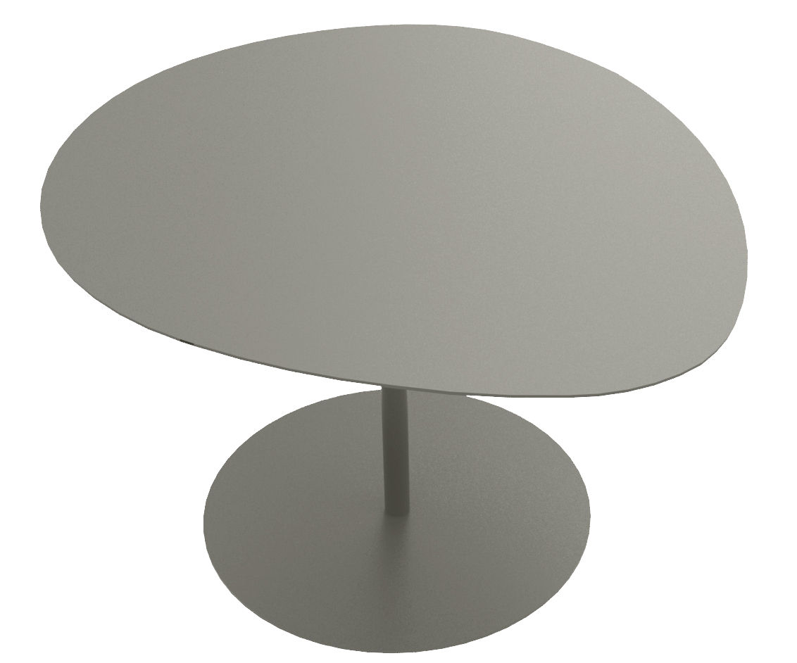 Mobilier - Tables basses - Table basse 3 Galets / 57 x 64 - H 38,6 cm - Matière Grise - Taupe - Acier
