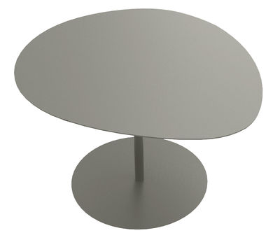 Table basse Galet n°3 / INDOOR - 57 x 64 cm - H 37,5 cm - Matière Grise taupe en métal