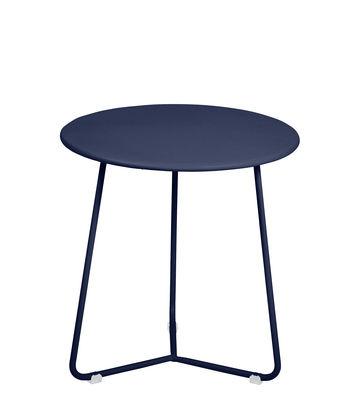 Mobilier - Tables basses - Table d'appoint Cocotte / Tabouret - Ø 34 x H 36 cm - Fermob - Bleu Abysse - Acier peint