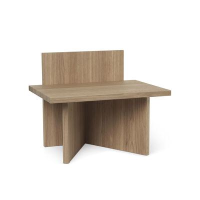 Mobilier - Tables basses - Table d'appoint Oblique / Table d'appoint - Bois / 40 x 29 cm - Ferm Living - Chêne - Chêne massif