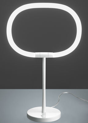 Lighting - Table Lamps - Halo Table lamp - LED by Artemide - White -  Caoutchouc siliconé, Varnished metal