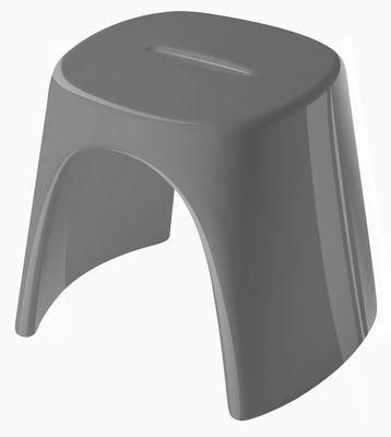 Tabouret empilable Amélie / Laqué - Plastique - Slide laqué gris en matière plastique