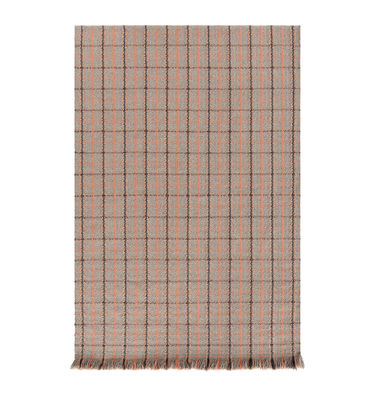 Déco - Tapis - Tapis Garden Layers / 90 x 200 cm - Gan - Tartan / Terracotta - Polypropylène