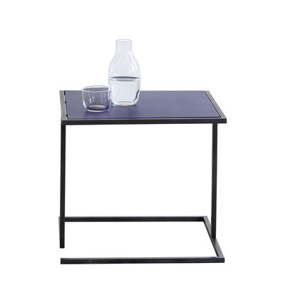 Arredamento - Tavolini  - Tavolino d'appoggio Andrea - / 44 x 44 cm - Metallo di Serax - Blu oltremare / Gamba nera - Acciaio