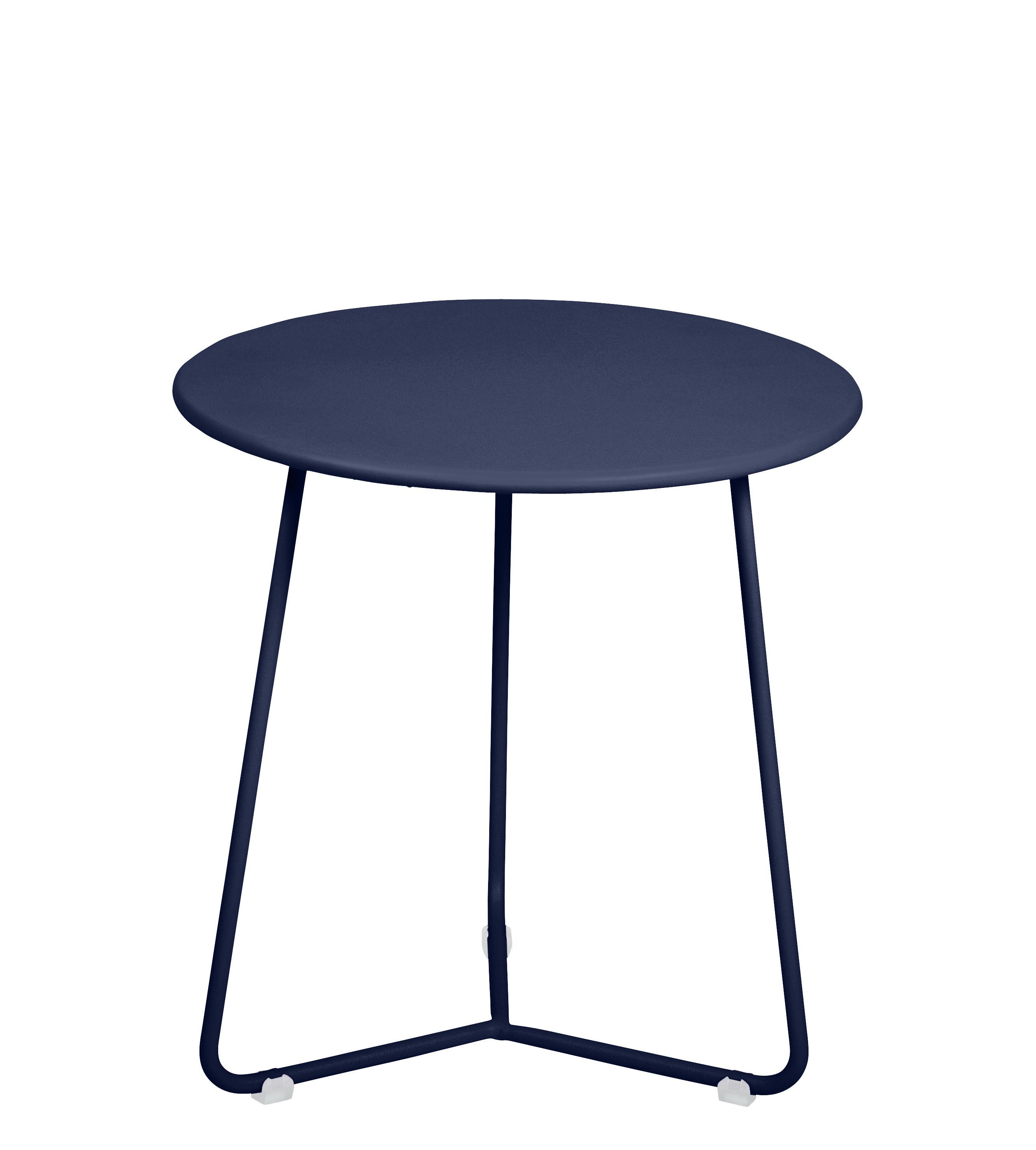 Arredamento - Tavolini  - Tavolino d'appoggio Cocotte - / Sgabello - Ø 34 x H 36 cm di Fermob - Blu abisso - Acciaio verniciato