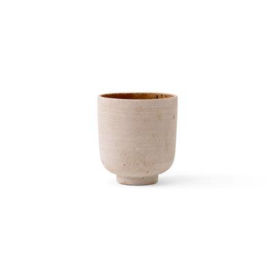 Image of Vaso per fiori Collect SC69 - / Ø 12 x H 13 cm - Polystone di &tradition - Giallo - Materiale plastico/Pietra