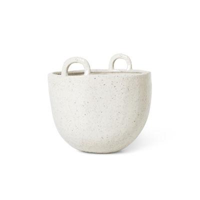 Interni - Cestini e Centrotavola  - Vaso per fiori Speckle Small - / Ciotola - Ø 18 x H 19 cm / Gres di Ferm Living - Ø 18 cm / Bianco sporco - Gres