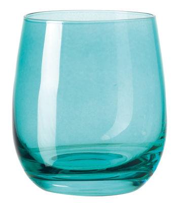 Arts de la table - Verres  - Verre à whisky Sora / H 10 cm - Leonardo - Bleu lagune - Verre